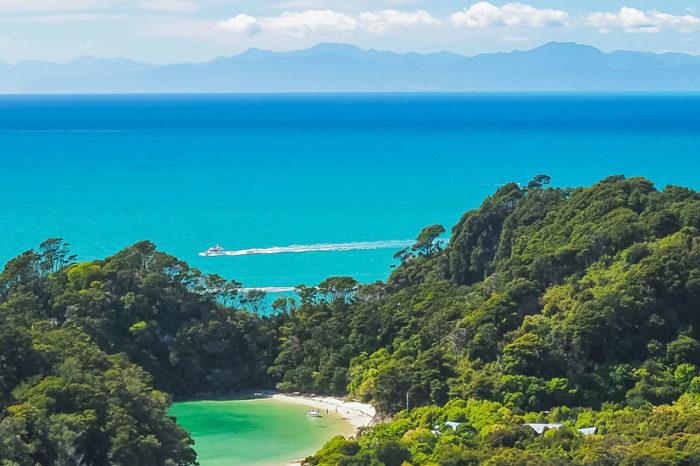 Kayak à Abel Tasman <br/> <span style='font-size:20px;'>Nouvelle-Zélande - Île du sud</span>