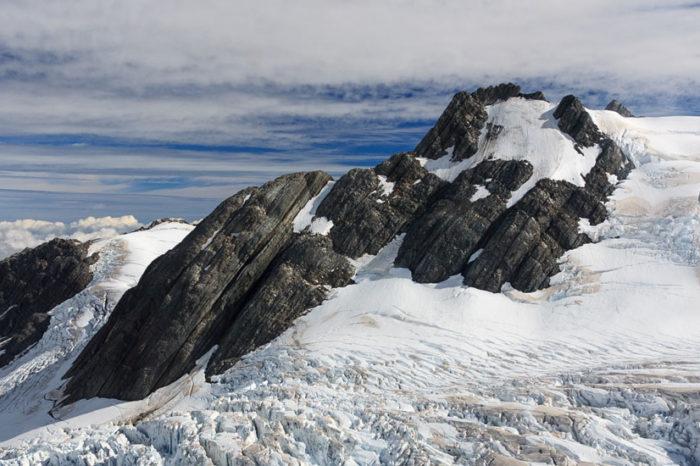 Survol des glaciers (avec marche sur la glace) <br/> <span style='font-size:20px;'>Nouvelle-Zélande - Île du Sud</span>